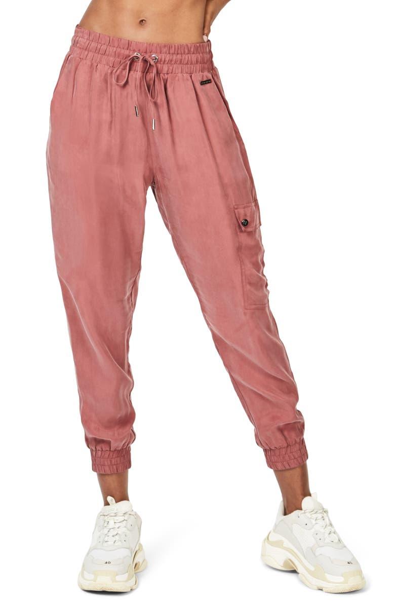 SWEATY BETTY Cargo 7/8 Trousers, Main, color, RUST MARL