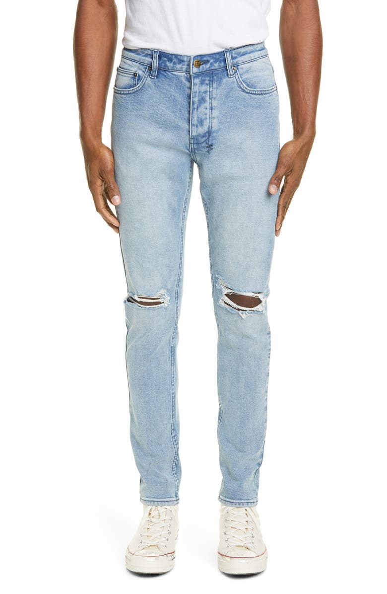 KSUBI Chitch Fury Ripped Skinny Fit Jeans, Main, color, DENIM