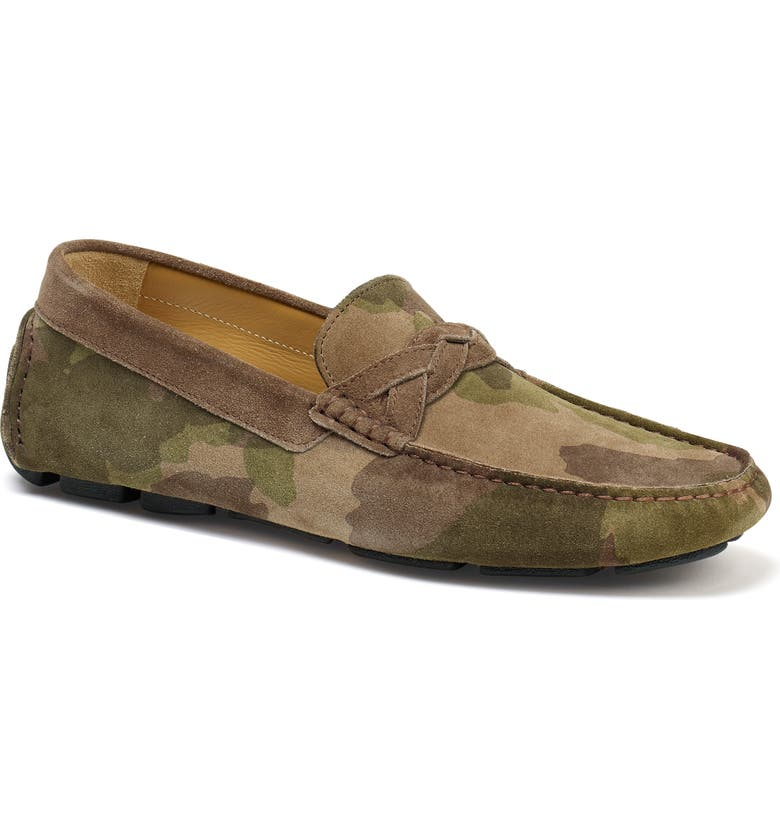 TRASK Silas River Moc Toe Slip-On, Main, color, CAMOUFLAGE SUEDE