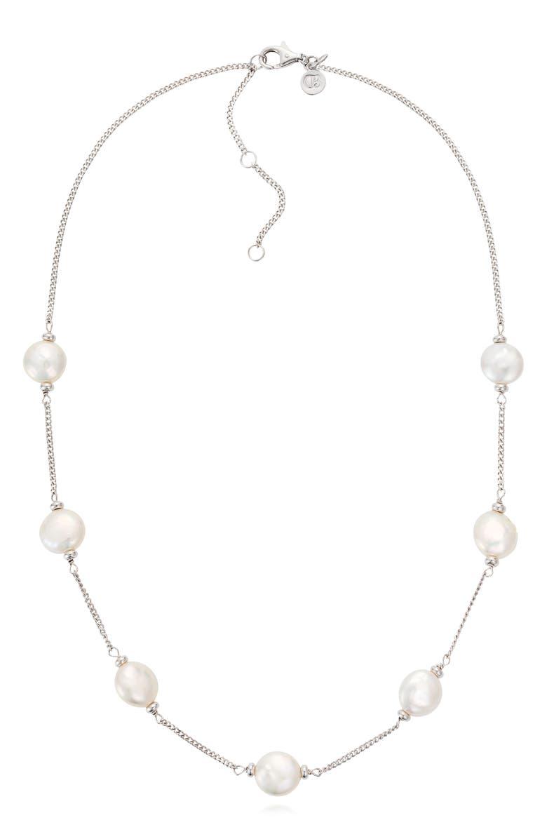 CLAUDIA BRADBY Luxe Coin Pearl Necklace, Main, color, 100