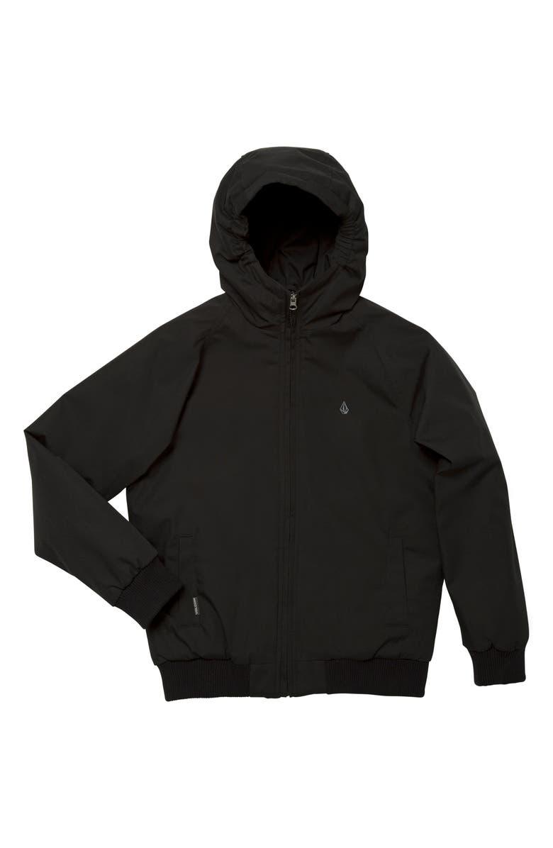 VOLCOM Hernan Coaster 5K Hooded Jacket, Main, color, BLACK