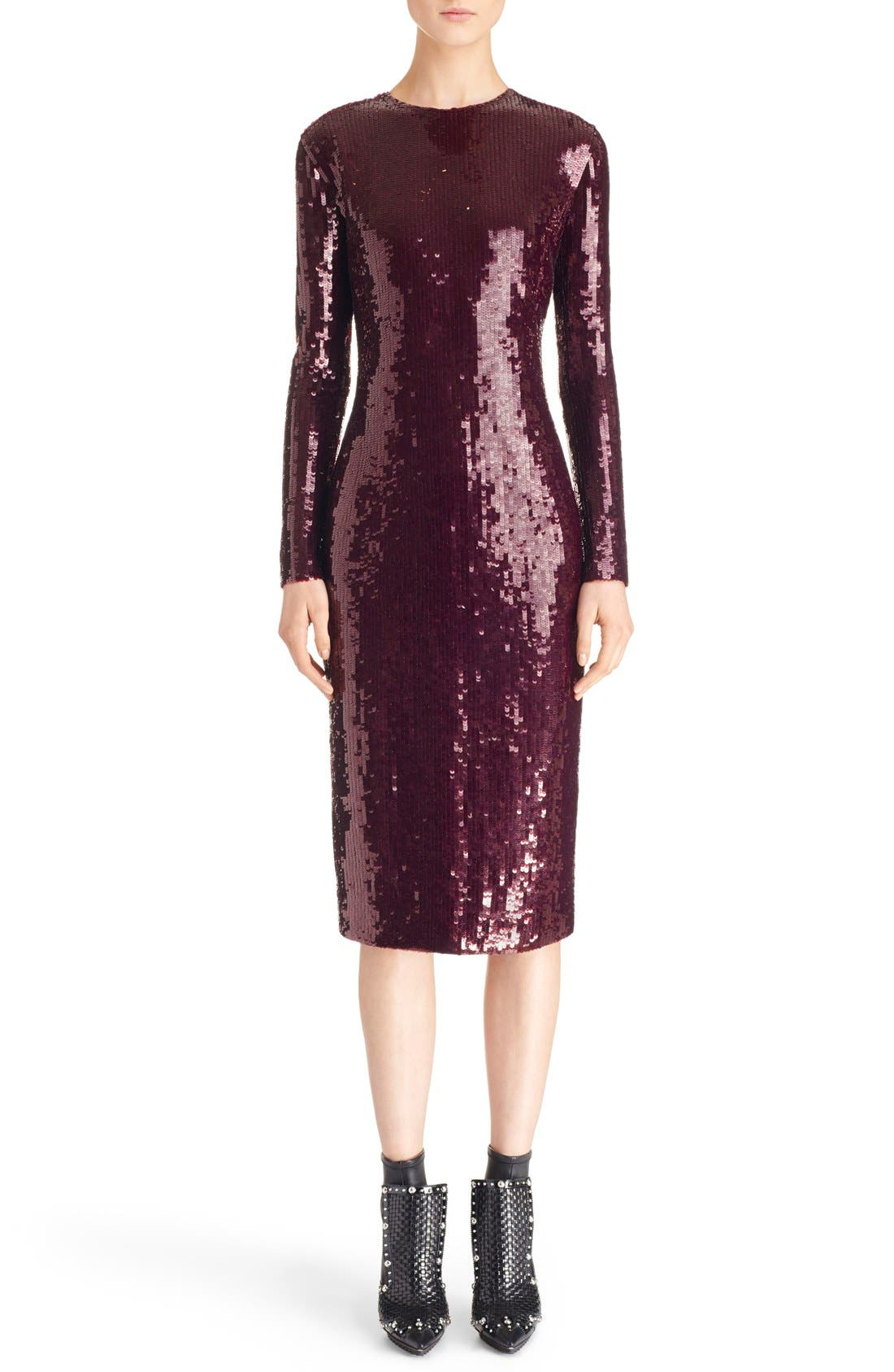 Sequin Sheath Dress, Main, color, 930