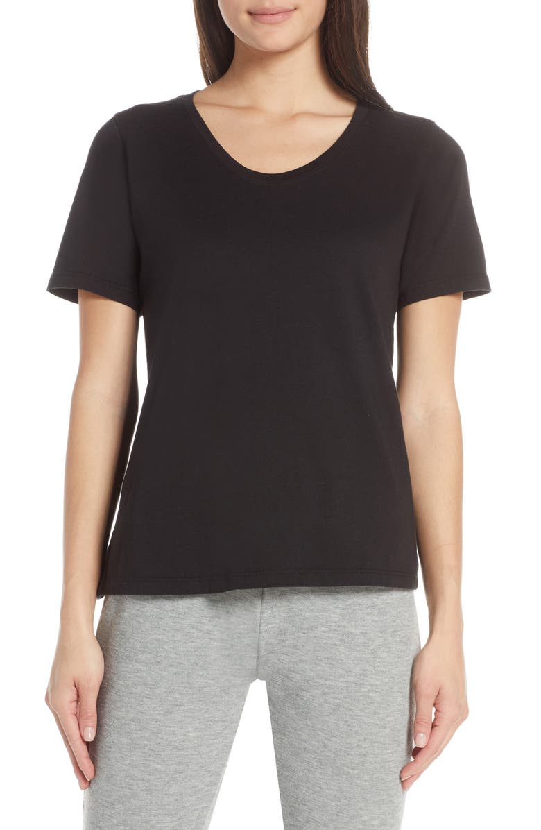 RICHER POORER The Scoop Cotton Tee, Main, color, BLACK