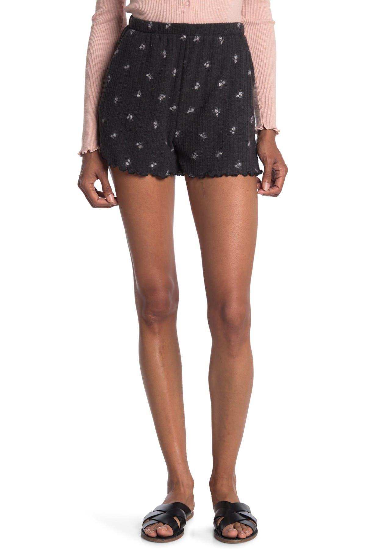 Image of Lush Lettuce Hem Knit Shorts