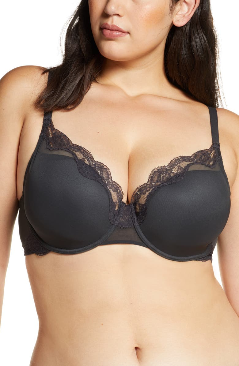 NATORI Elusive Full Fit Underwire Contour Bra, Main, color, COAL