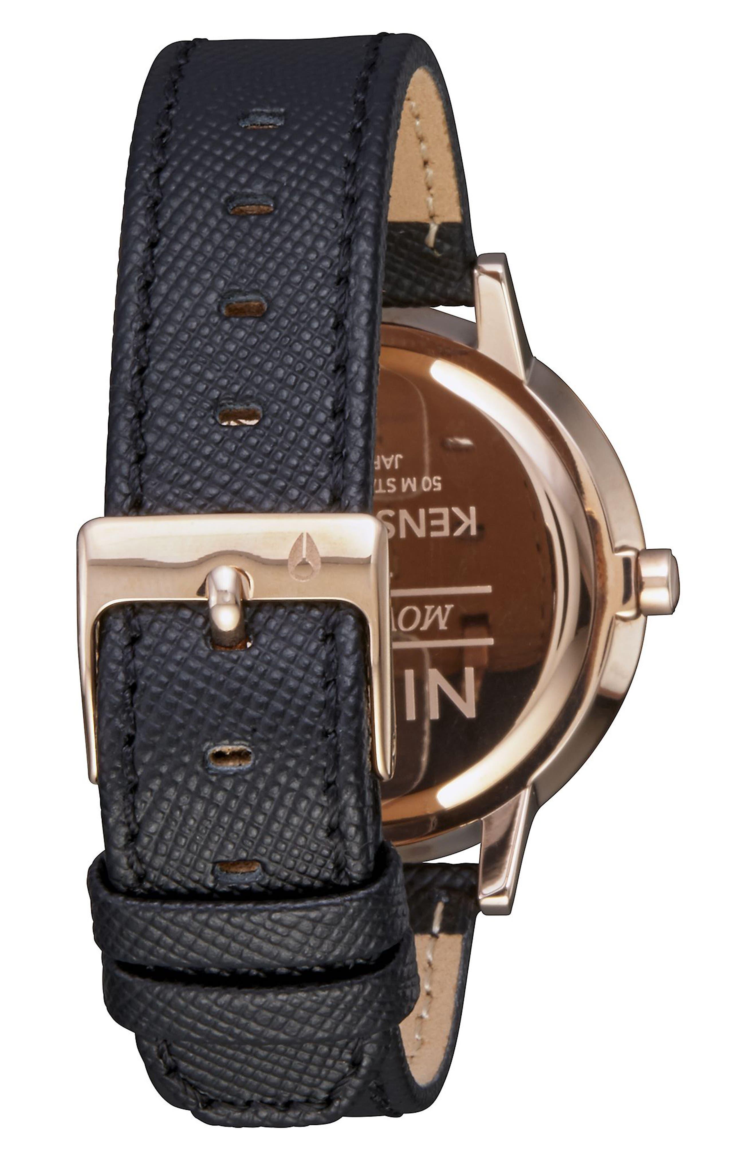 ,                             'The Kensington' Leather Strap Watch, 37mm,                             Alternate thumbnail 22, color,                             004
