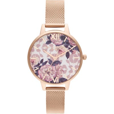 Olivia Burton Wild Flower Bracelet Watch,
