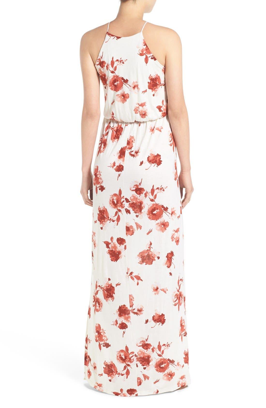 ,                             High Neck Maxi Dress,                             Alternate thumbnail 142, color,                             900