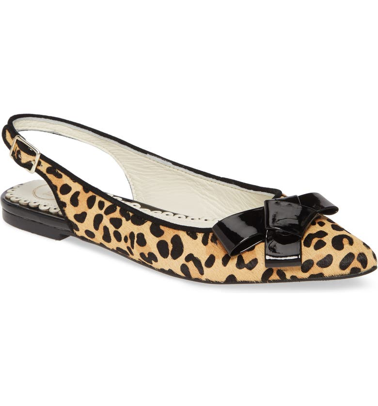 1901 Slingback Flat, Main, color, LEOPARD CALF HAIR