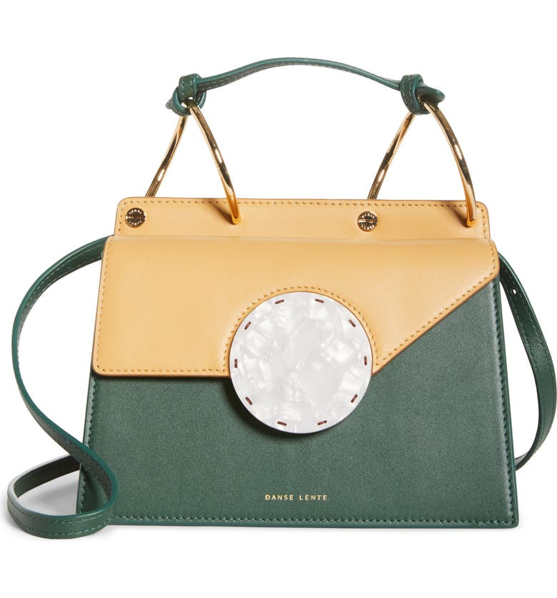 DANSE LENTE Phoebe Bis Acetate Closure Crossbody Bag, Main, color, GARDEN HONEY