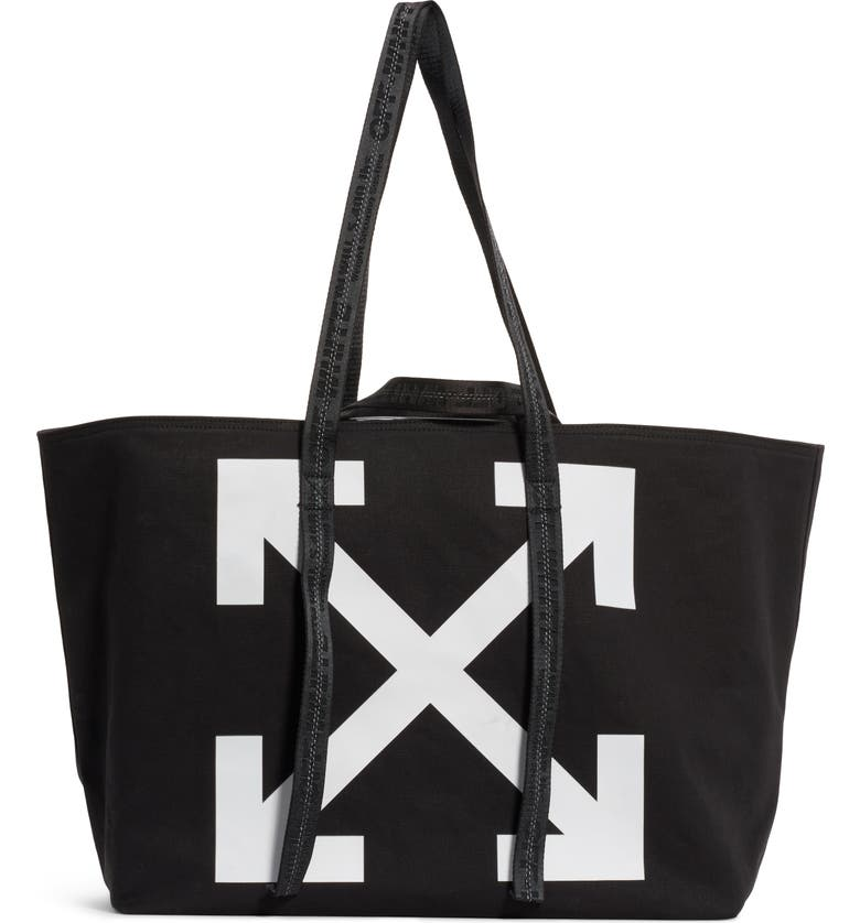 OFF-WHITE Commercial Canvas Tote, Main, color, 001