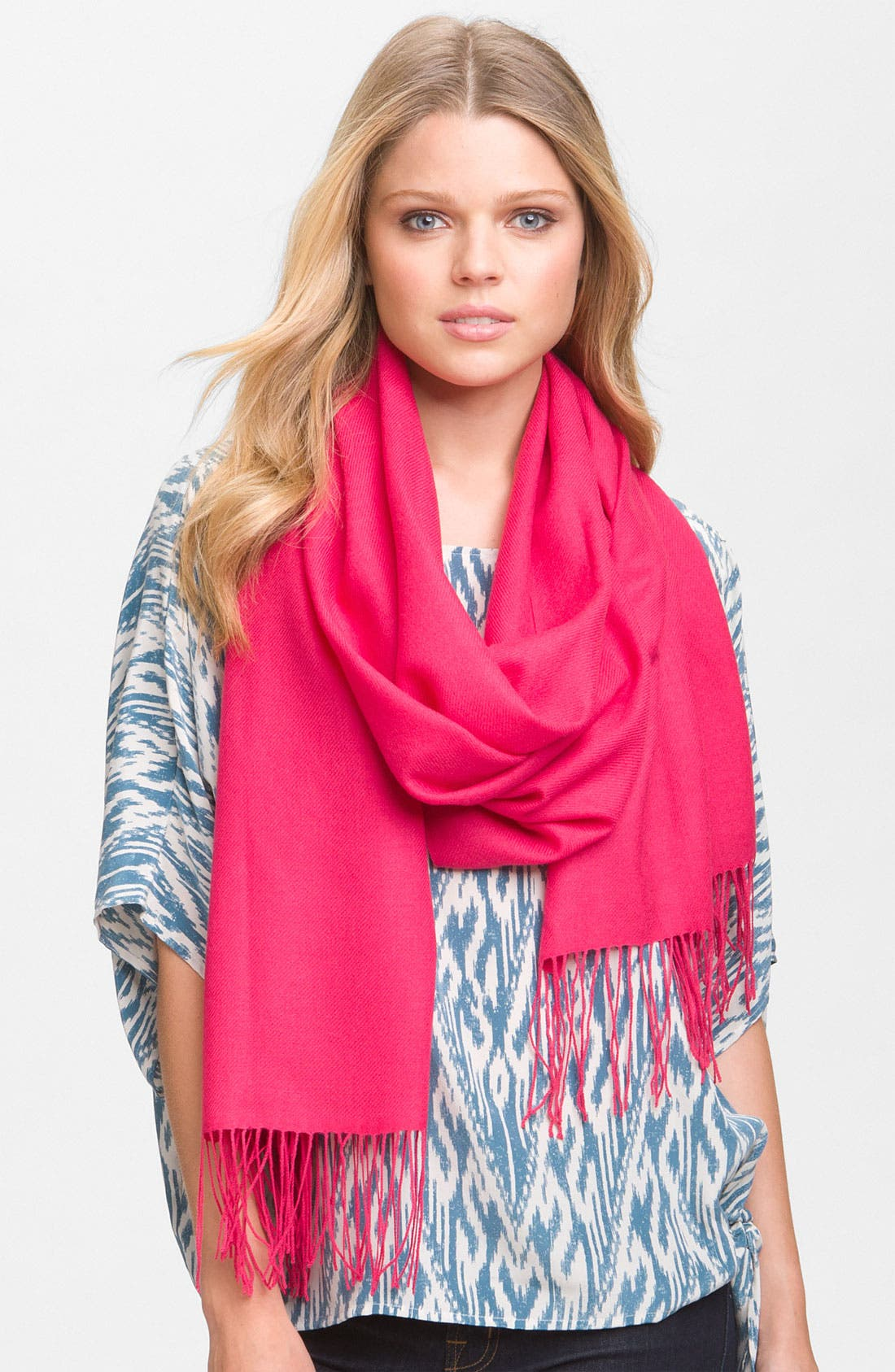 ,                             Tissue Weight Wool & Cashmere Wrap,                             Main thumbnail 132, color,                             508