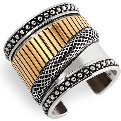 Alexander Mcqueen Mechanical Two-Tone Ring
