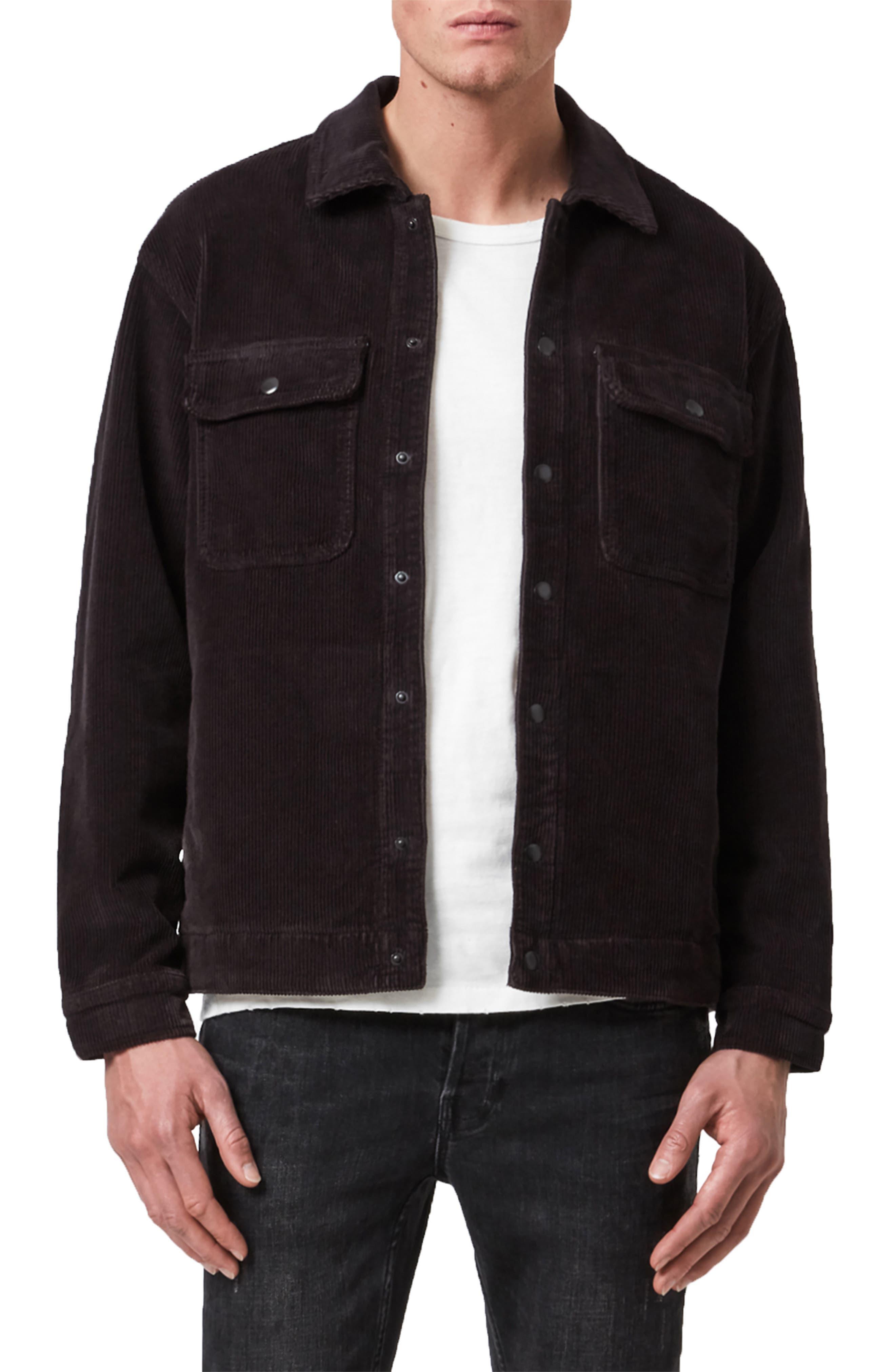 Coronet Snap-Up Corduroy Jacket