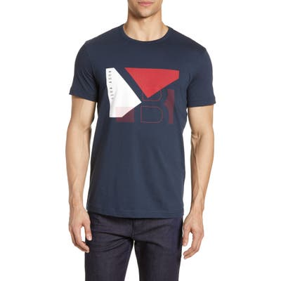 Boss Regular Fit Graphic T-Shirt, Blue
