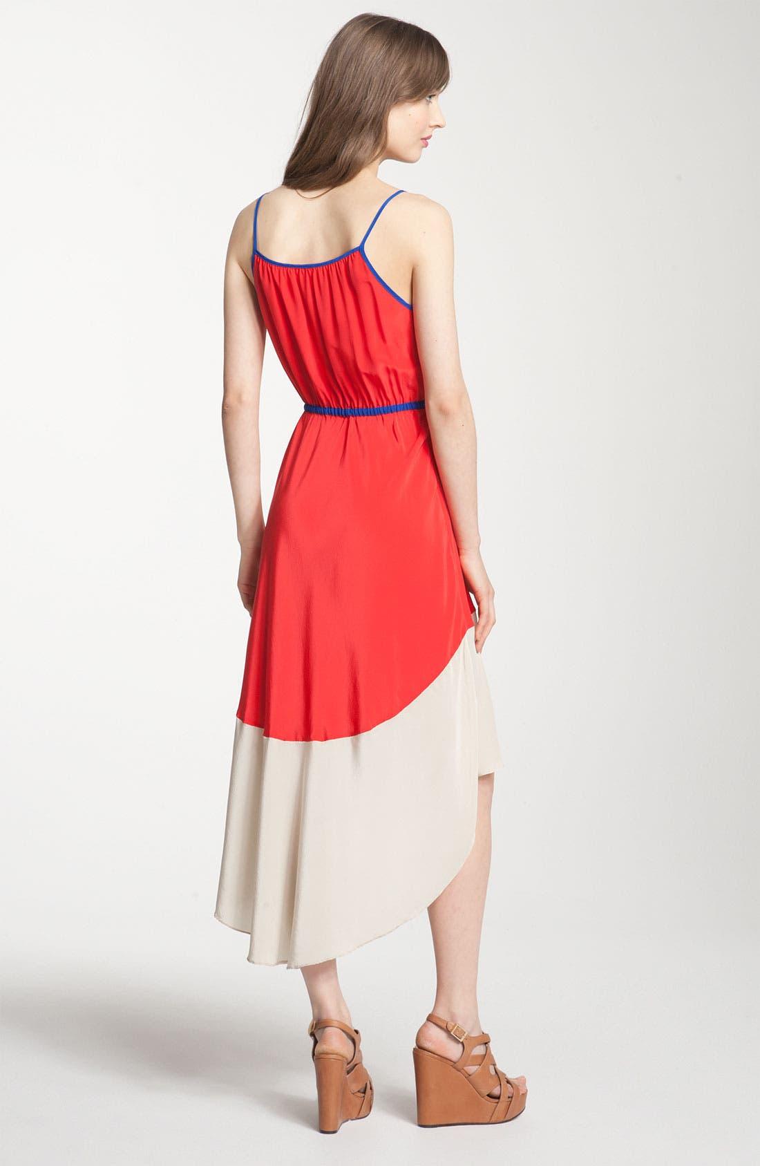 ,                             Colorblock Asymmetrical Hem Dress,                             Alternate thumbnail 7, color,                             600