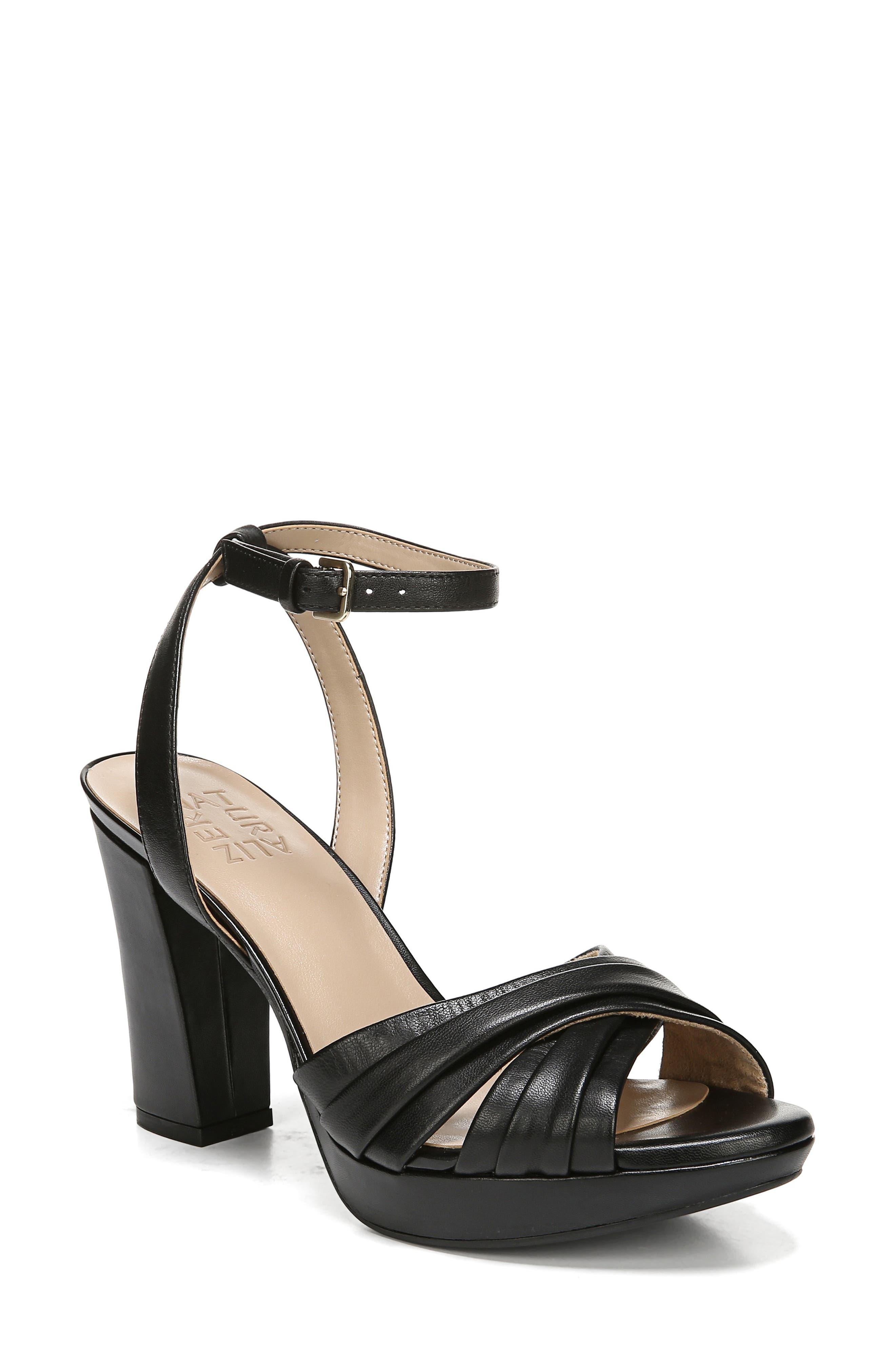 Avril Ankle Strap Sandal, Main, color, BLACK LEATHER