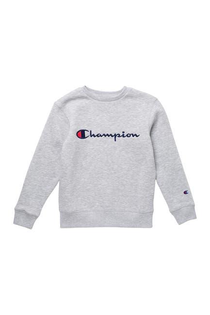 Image of Champion Embroidered Signature Logo Fleece Crew Neck Sweater