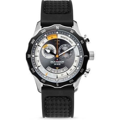 Jack Mason Regatta Yacht Limited Edition Chronograph Rubber Strap Watch, 42Mm