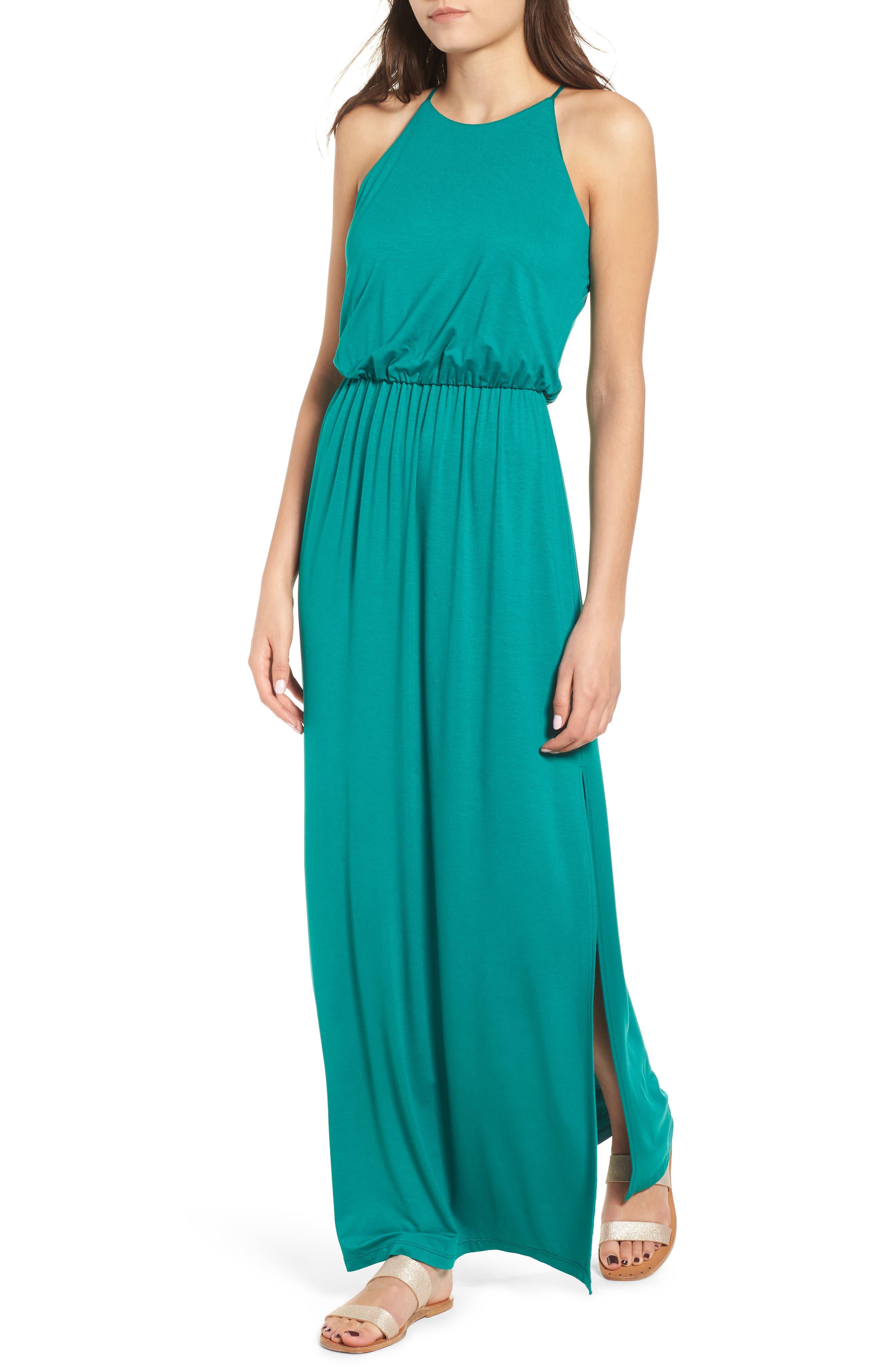 ,                             High Neck Maxi Dress,                             Main thumbnail 9, color,                             301