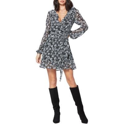 Paige Shawna Ruffle Wrap Dress, Black