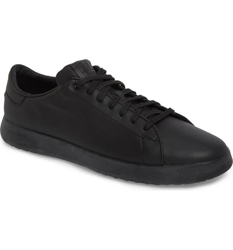COLE HAAN GrandPro Low Top Sneaker, Main, color, BLACK/ BLACK LEATHER