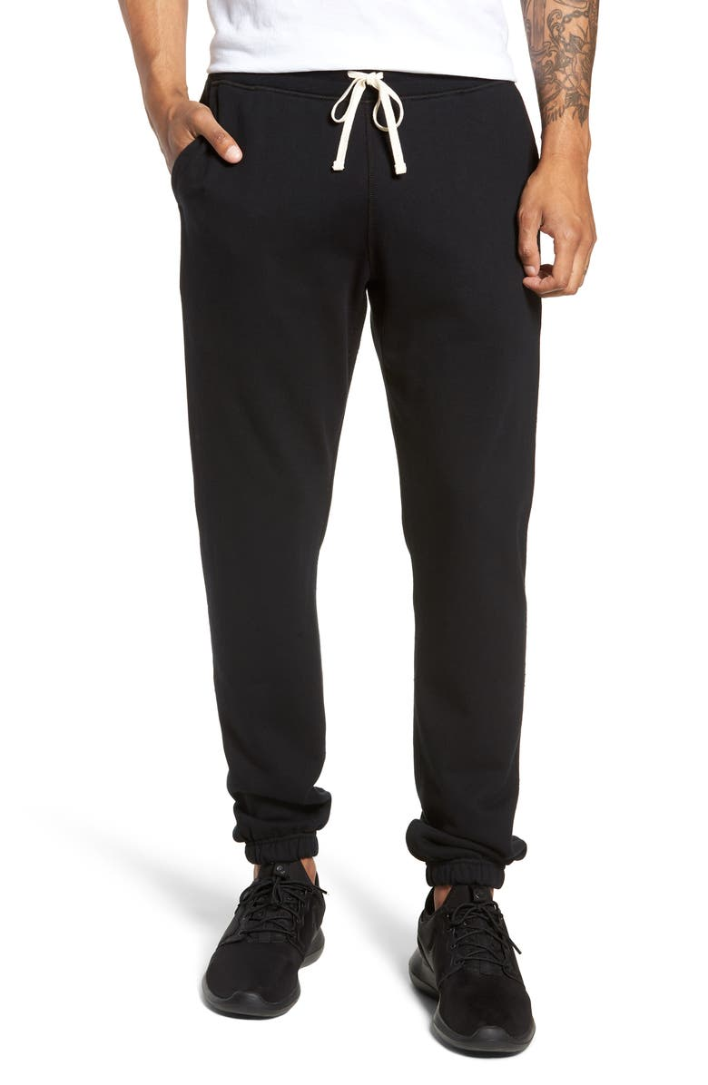 REIGNING CHAMP Cotton Jogger Pants, Main, color, BLACK