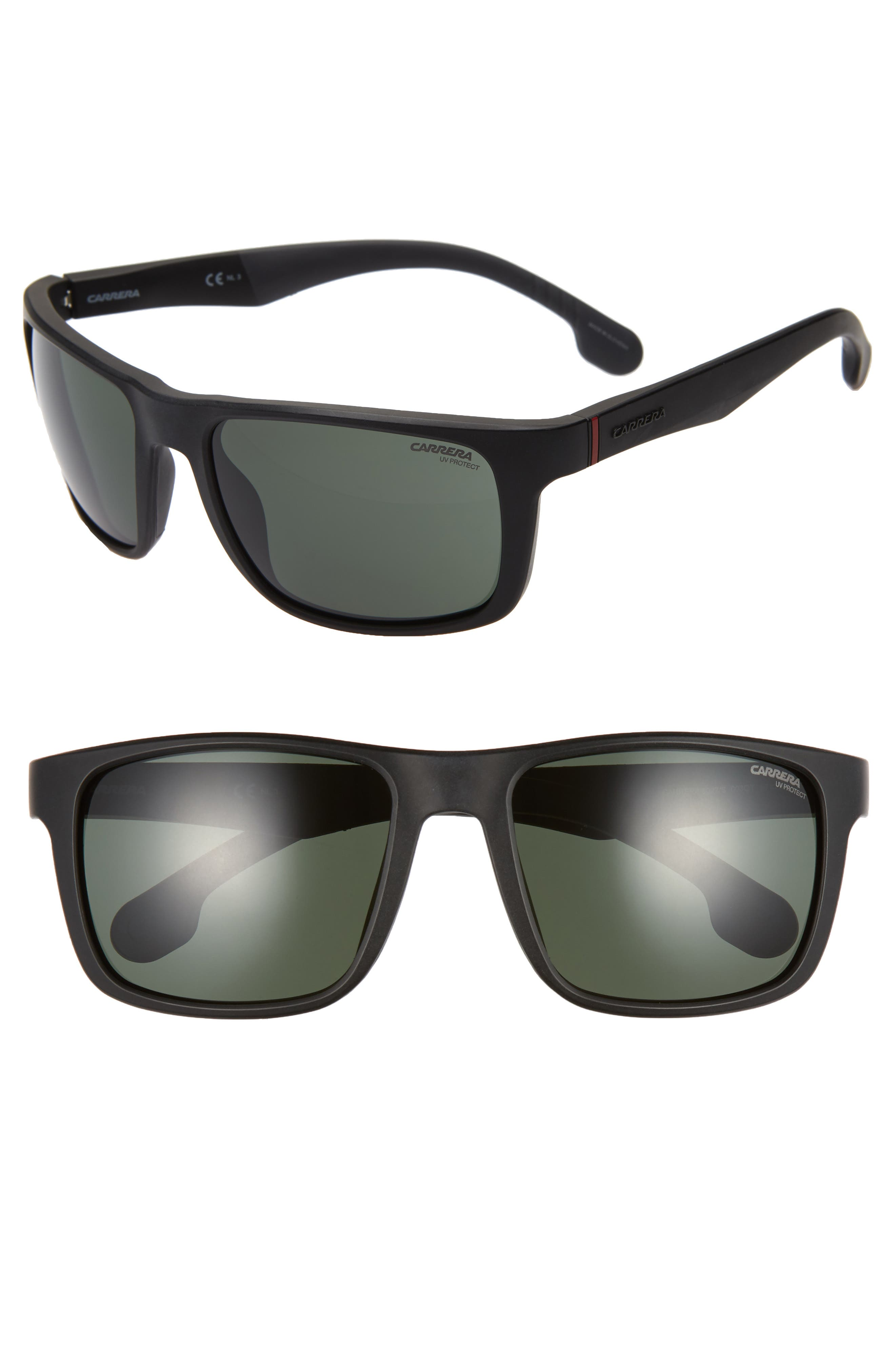 Carrera Eyewear 57Mm Wrap Sunglasses - Matte Black
