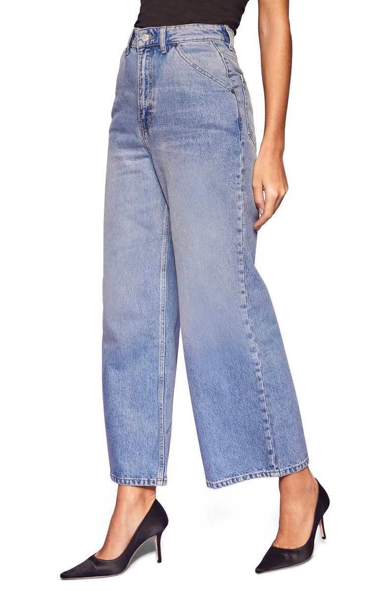 REFORMATION Jackie Ultra High Waist Wide Leg Jeans, Main, color, MARION