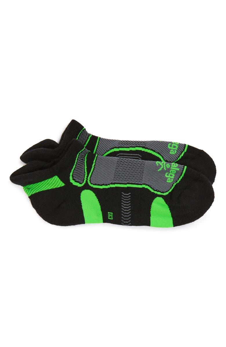 BALEGA Ultra Light Socks, Main, color, BLACK/ LIME