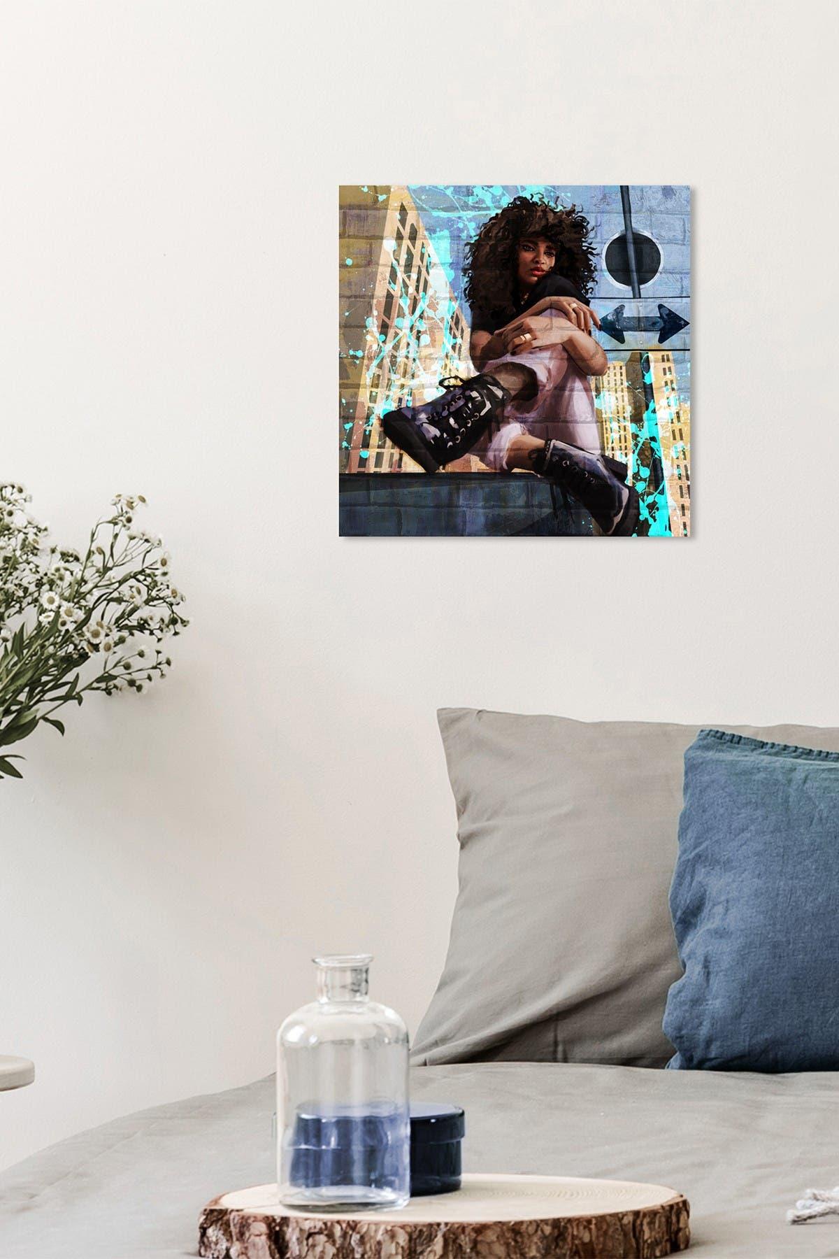 Image of Wynwood Studio Urban Street Style Blue Wall Art