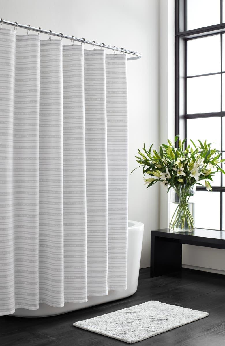 VERA WANG Stripe Shower Curtain, Main, color, 100