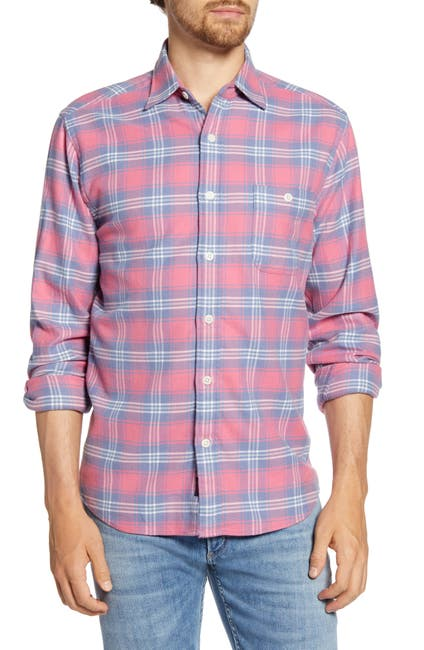 Image of FAHERTY BRAND Seaview Regular Fit Plaid Flannel Button-Up Shirt