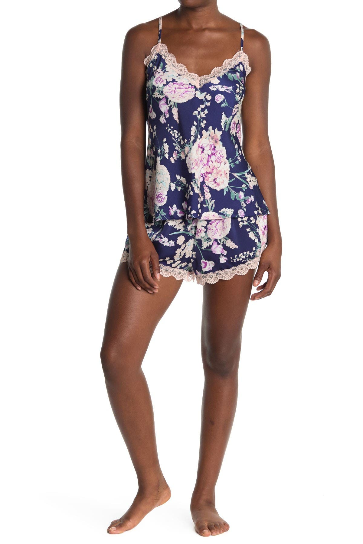 Image of Flora by Flora Nikrooz Maria Silky Cami & Top Pajama Set