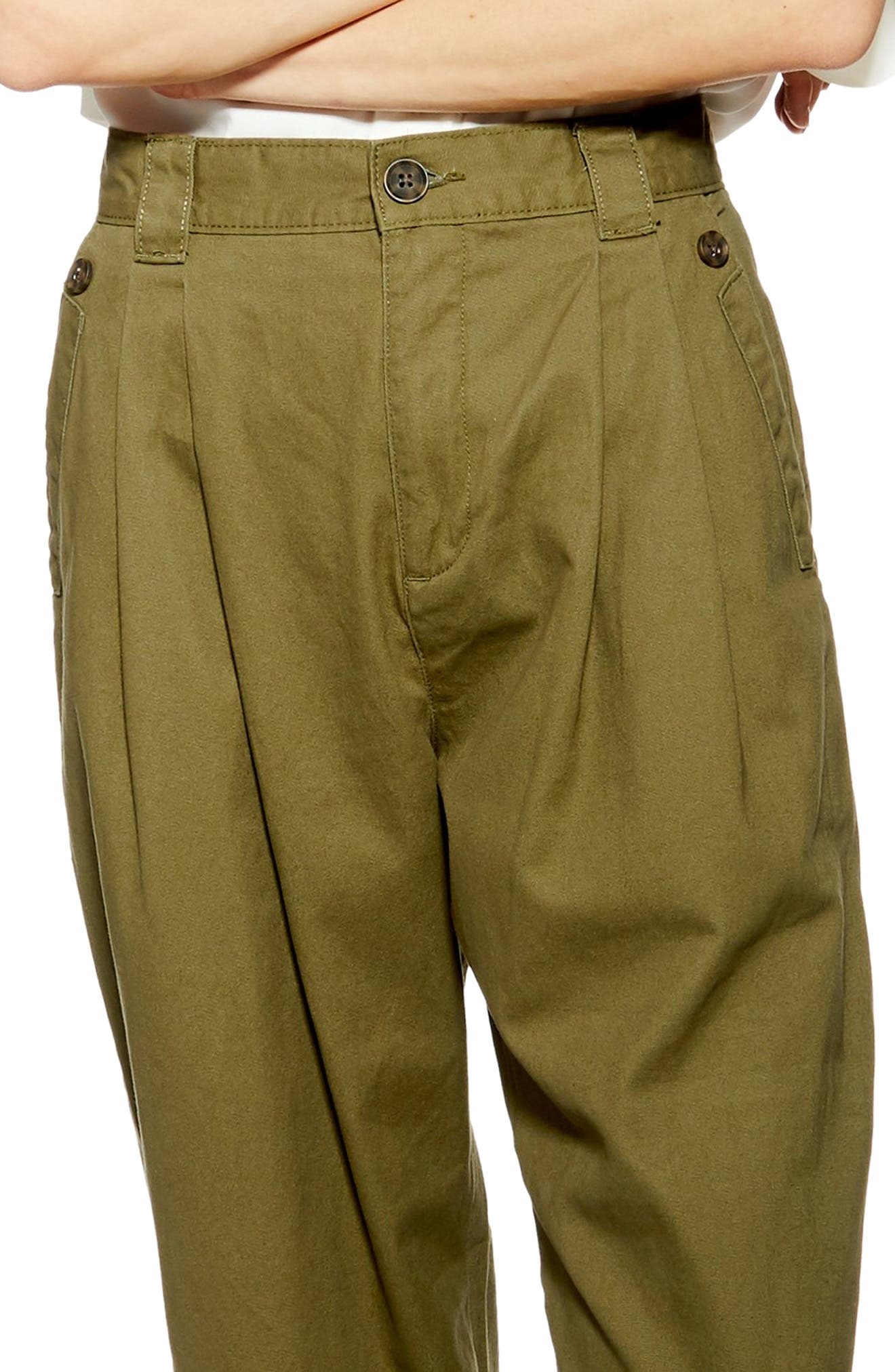 ,                             Caitlin Trousers,                             Alternate thumbnail 3, color,                             OLIVE