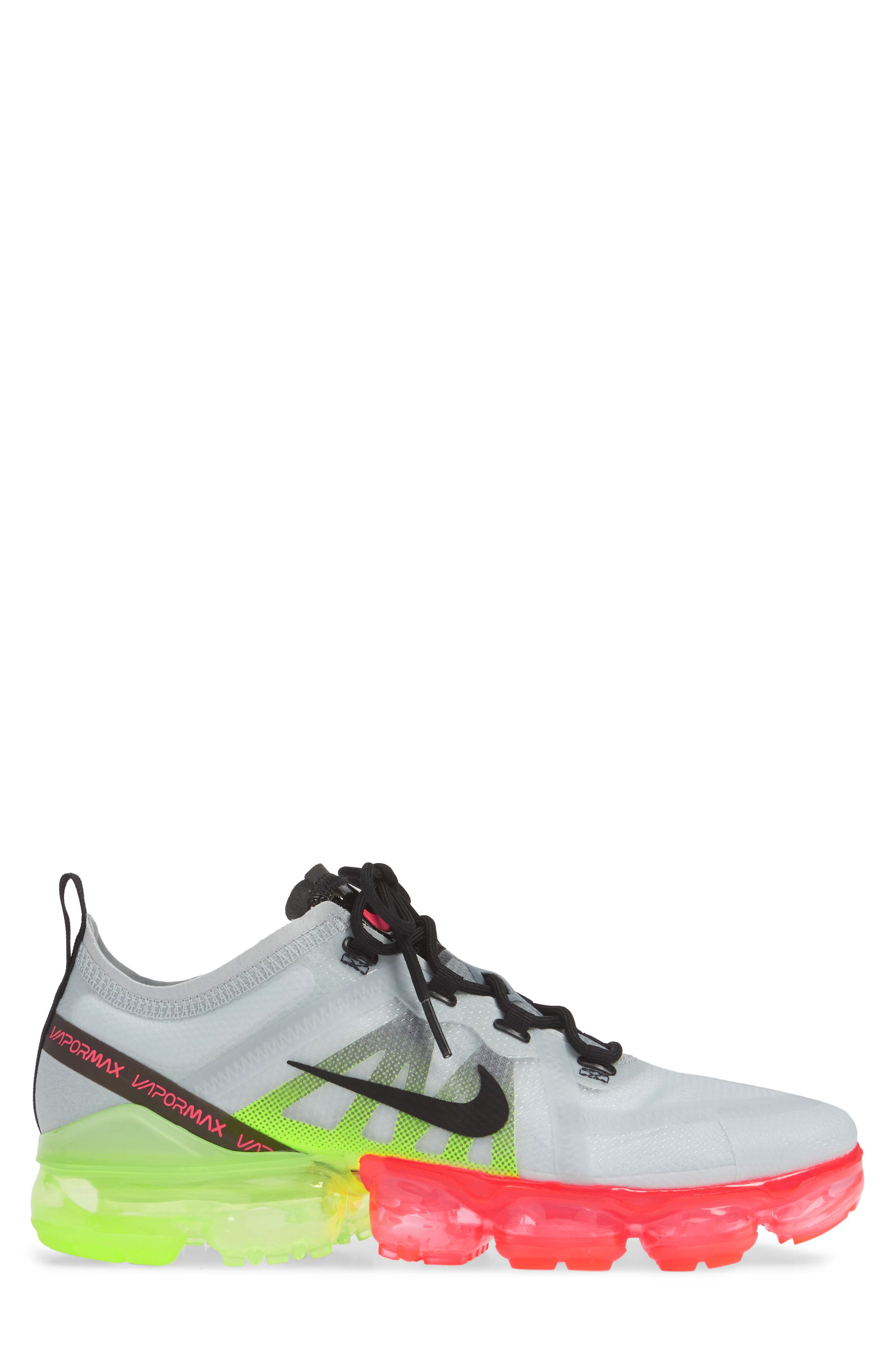 ,                             Air VaporMax 2019 Running Shoe,                             Alternate thumbnail 3, color,                             PURE PLATINUM/ BLACK/ VOLT