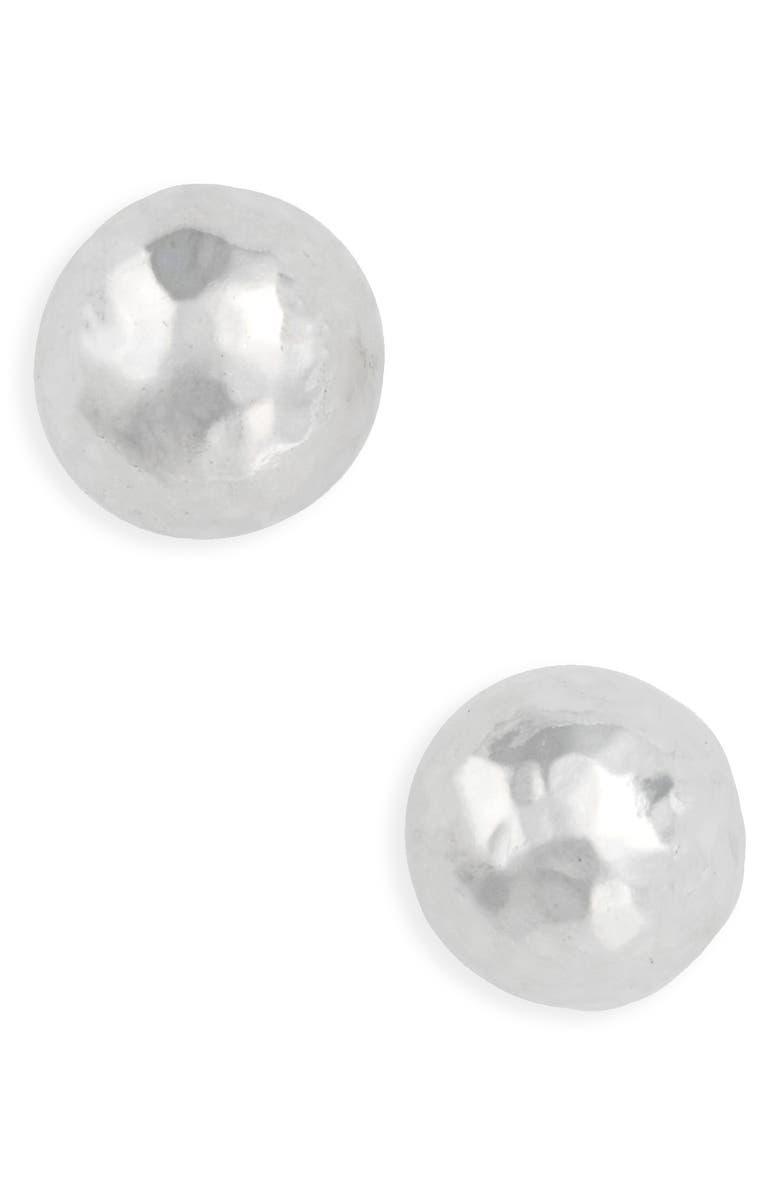 IPPOLITA Classico Half Ball Stud Earrings, Main, color, SILVER