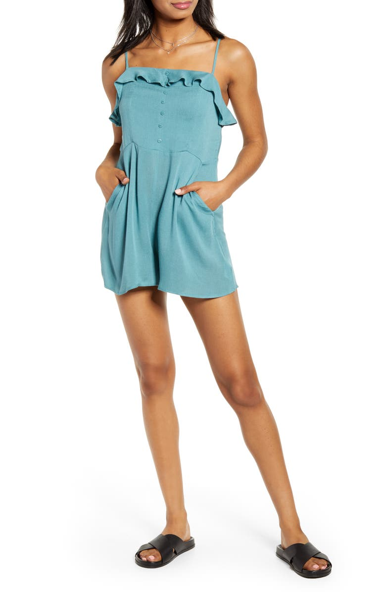 LIRA CLOTHING Isla Romper, Main, color, BLUE