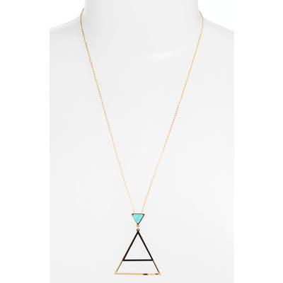 Knotty Triangle Pendant Necklace