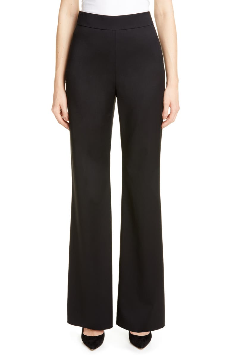 MAX MARA Valois Wool Pants, Main, color, BLACK