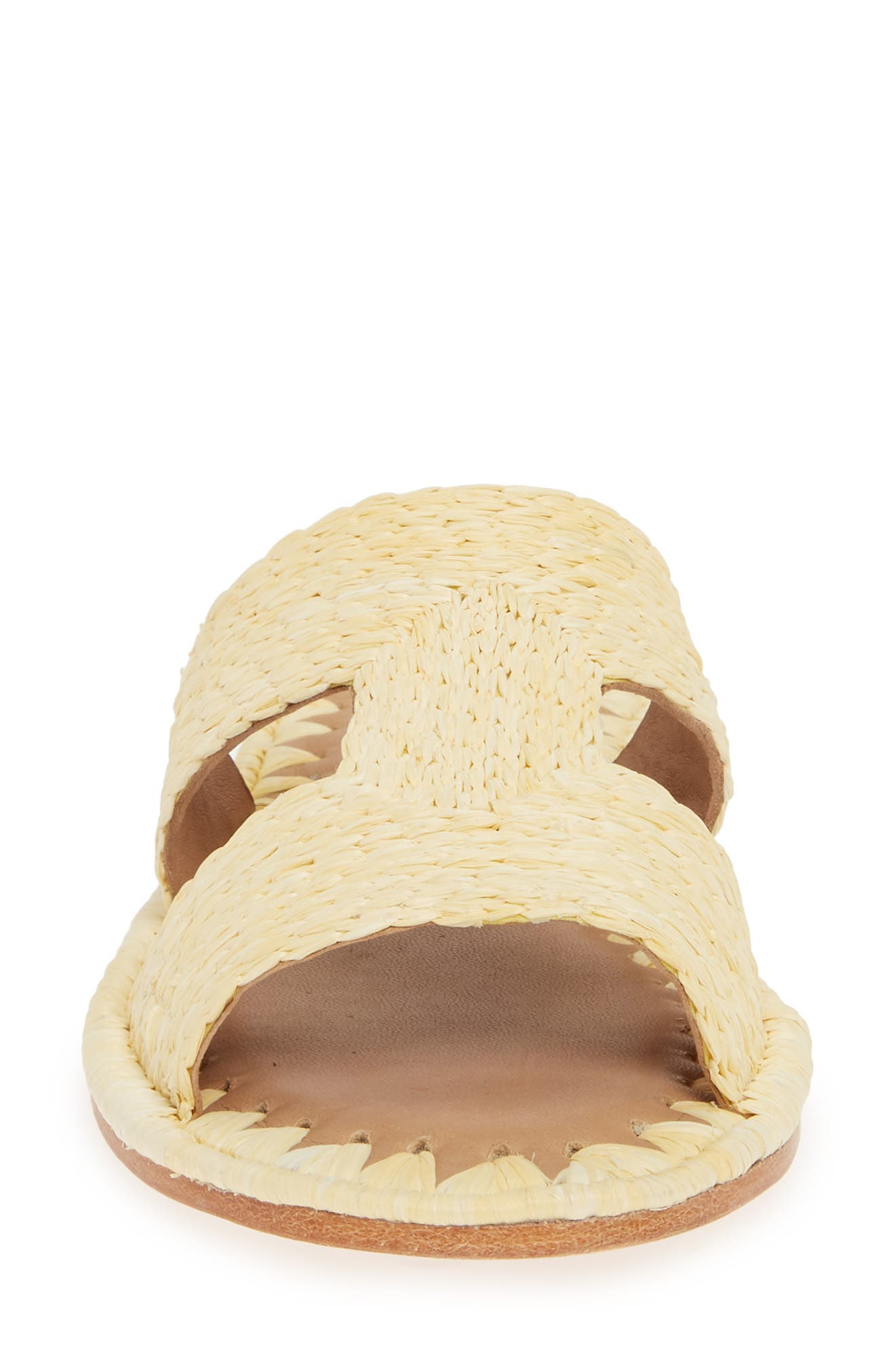 ,                             Ernon Raffia Slide Sandal,                             Alternate thumbnail 4, color,                             NATURAL