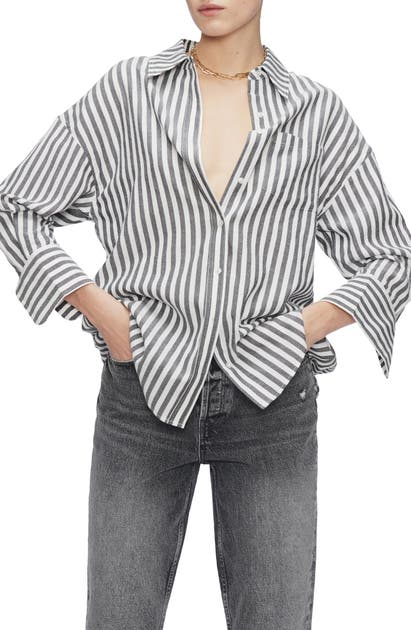 ANINE BING MIKA BUTTON-UP SHIRT