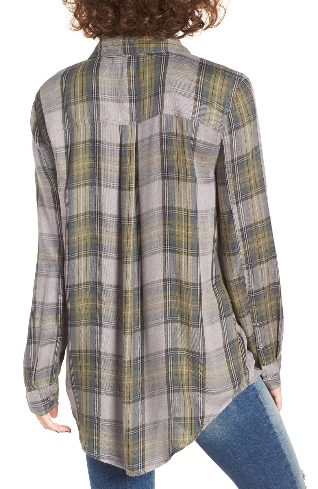 ,                             Plaid Tunic Shirt,                             Alternate thumbnail 17, color,                             030