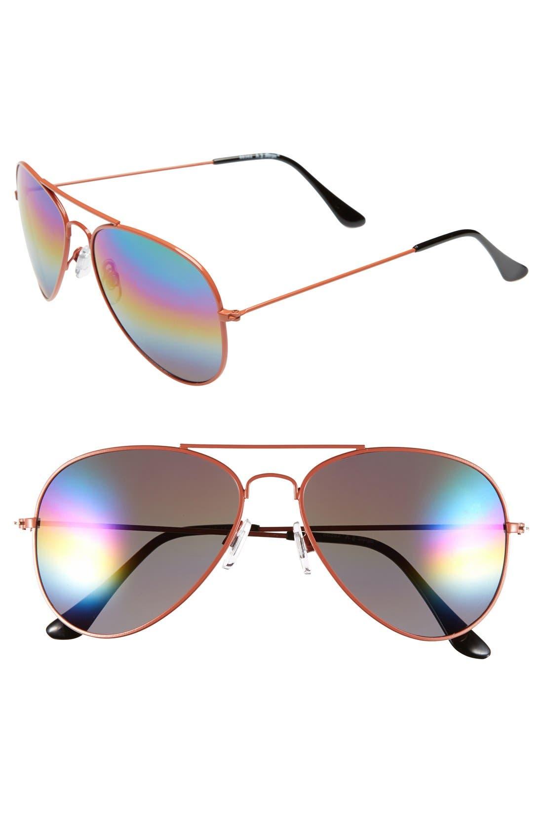 ,                             'Sunset' 57mm Aviator Sunglasses,                             Main thumbnail 4, color,                             800