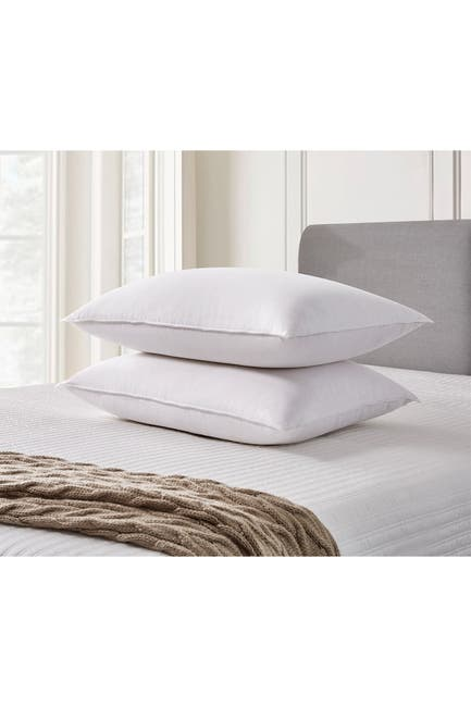 Image of Blue Ridge Home Fashions Cannon 330-Thread Count Back Sleeper Goose Feather & Down Fiber Pillow - King - White - Set of 2