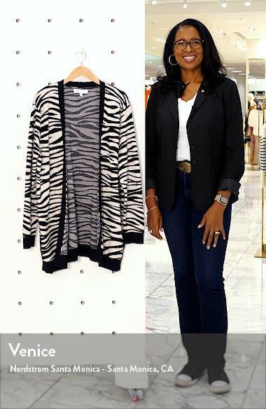 Zebra Print Cardigan, sales video thumbnail