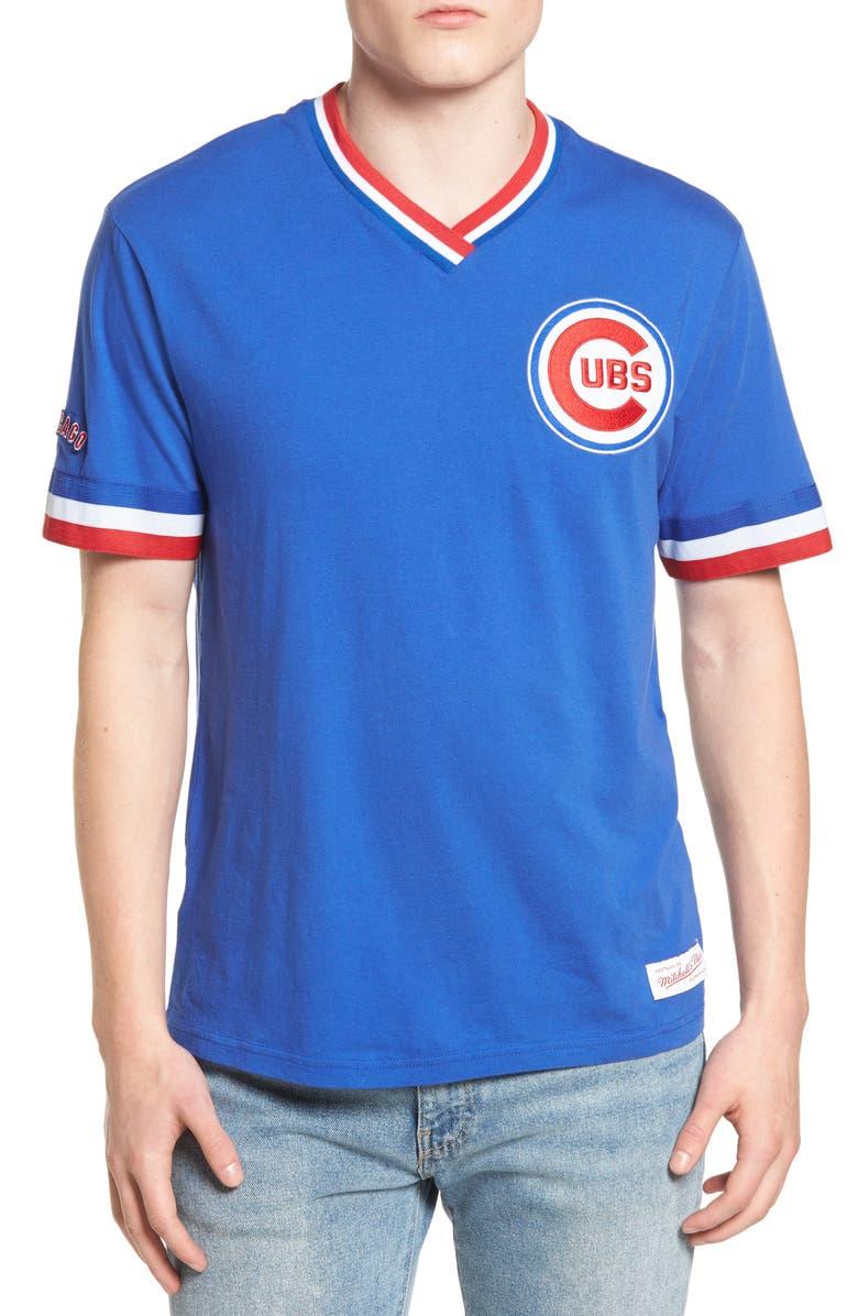online retailer b8c4e 2c4c2 Mitchell & Ness Chicago Cubs - Vintage V-Neck T-Shirt ...