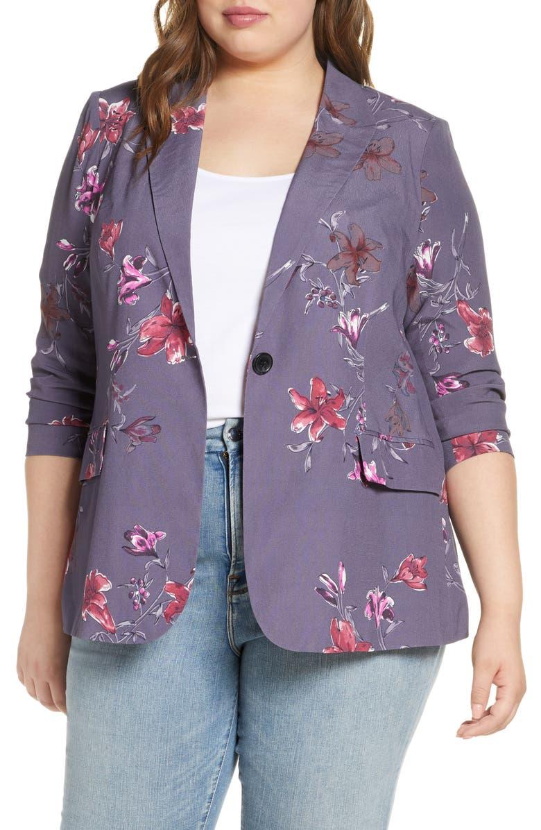 DANIEL RAINN Floral Blazer, Main, color, 020