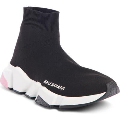 Balenciaga Speed Mid Sneaker, Black