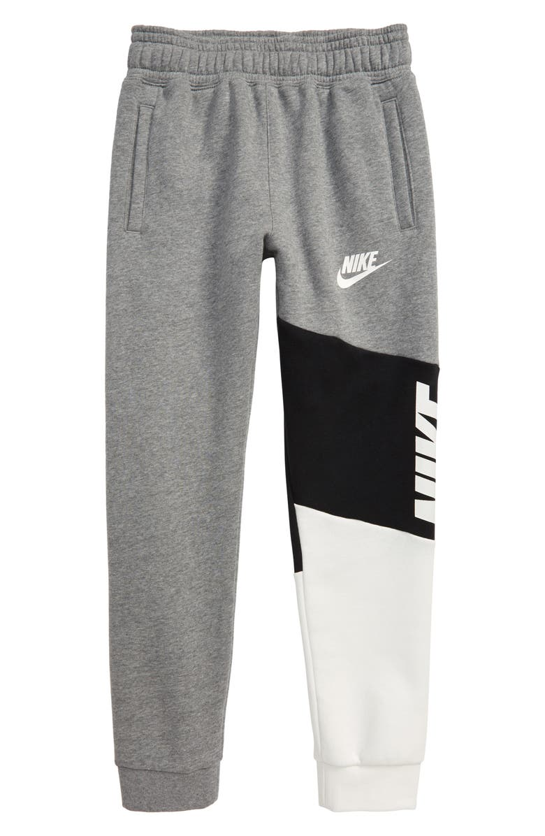 NIKE Sportswear Core Amplify Colorblock Fleece Pants, Main, color, 091